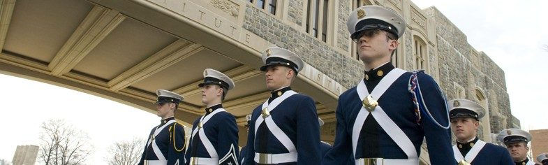Cadets on campus