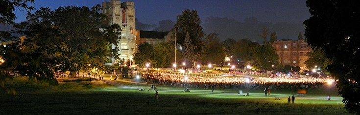 Ceremony on the Drillfield